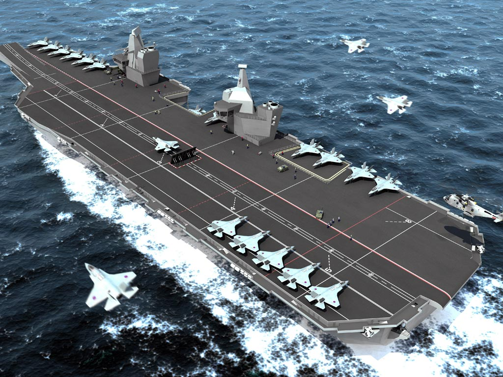 British Aircraft Carrier Queen Elizabeth From Aircraft Carriers to