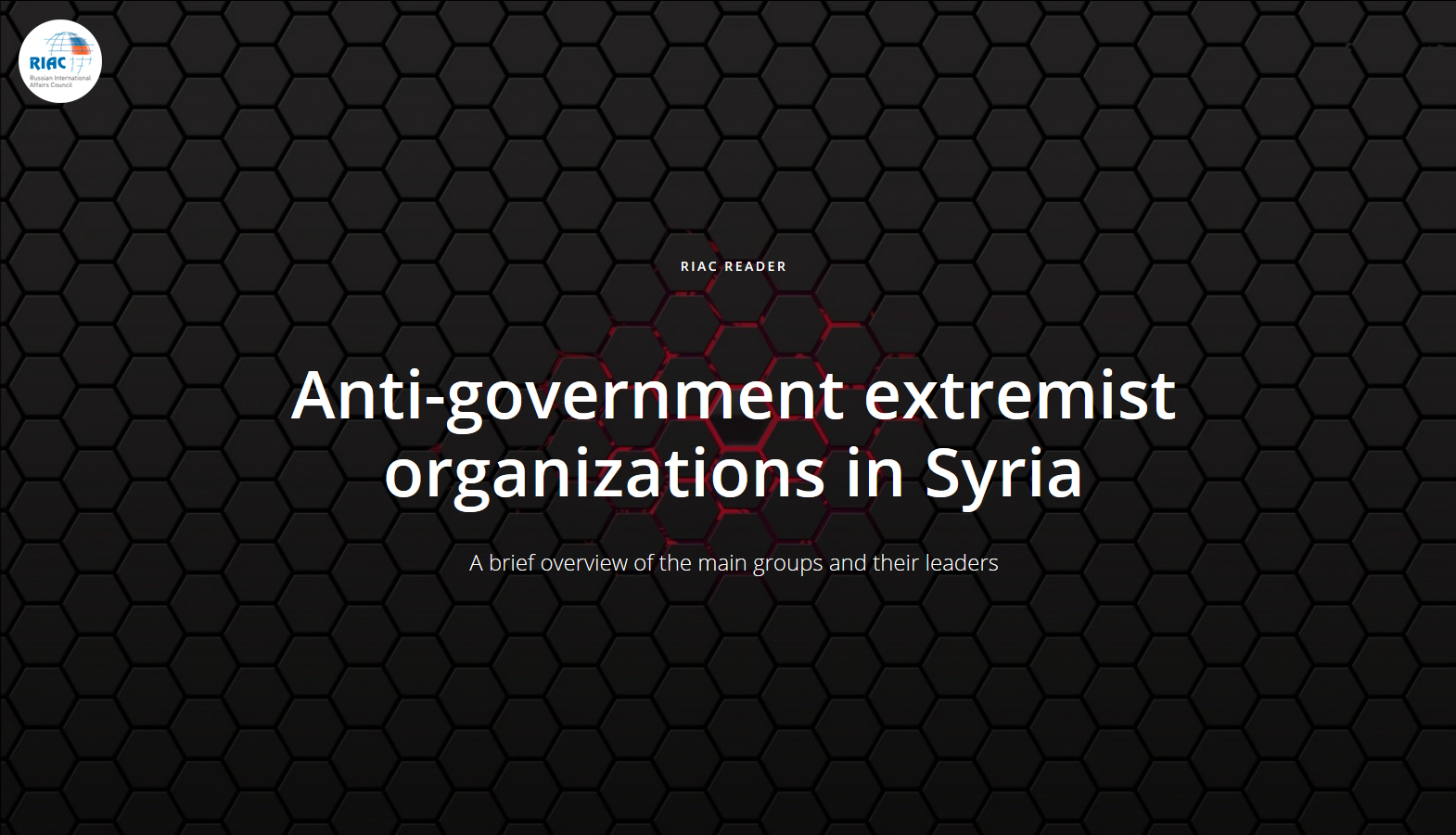 Anti-government extremist organizations in Syria