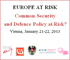 International Conference on Common EU Defense and Security Strategy Held in Vienna