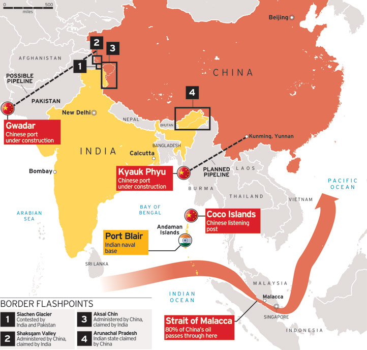 RIAC :: Wither India-China Relations? China Border With India Map on